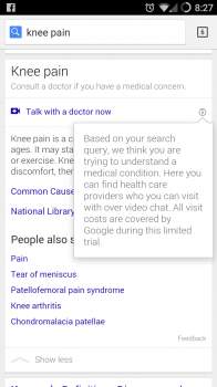 google health search result