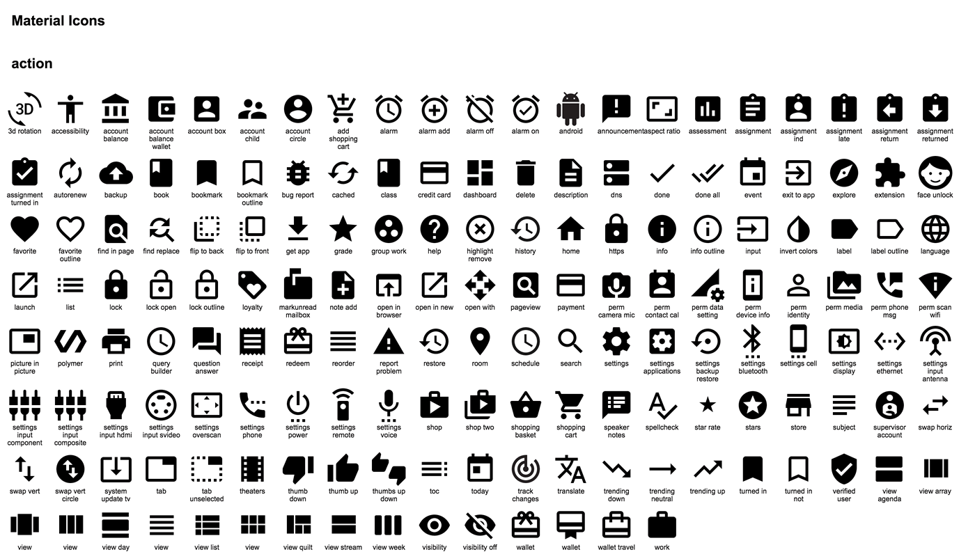 download 750 material design icons provided by google