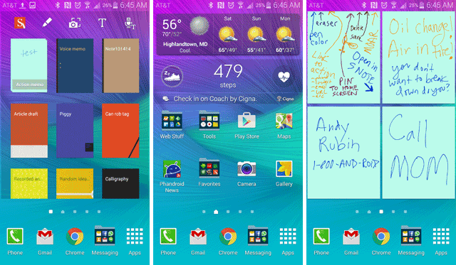 Note 4 Home Screens