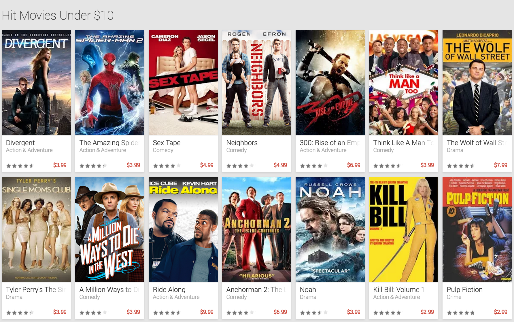 Cyber Weekend Google Play Movies Amp Tv Titles Up To 75 Off