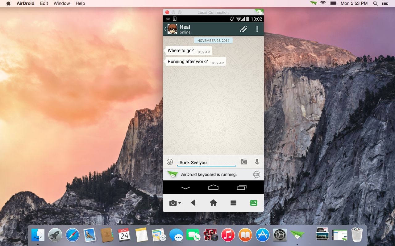 Airdroid 3 update lets you mirror your entire android for Mirror your phone to pc