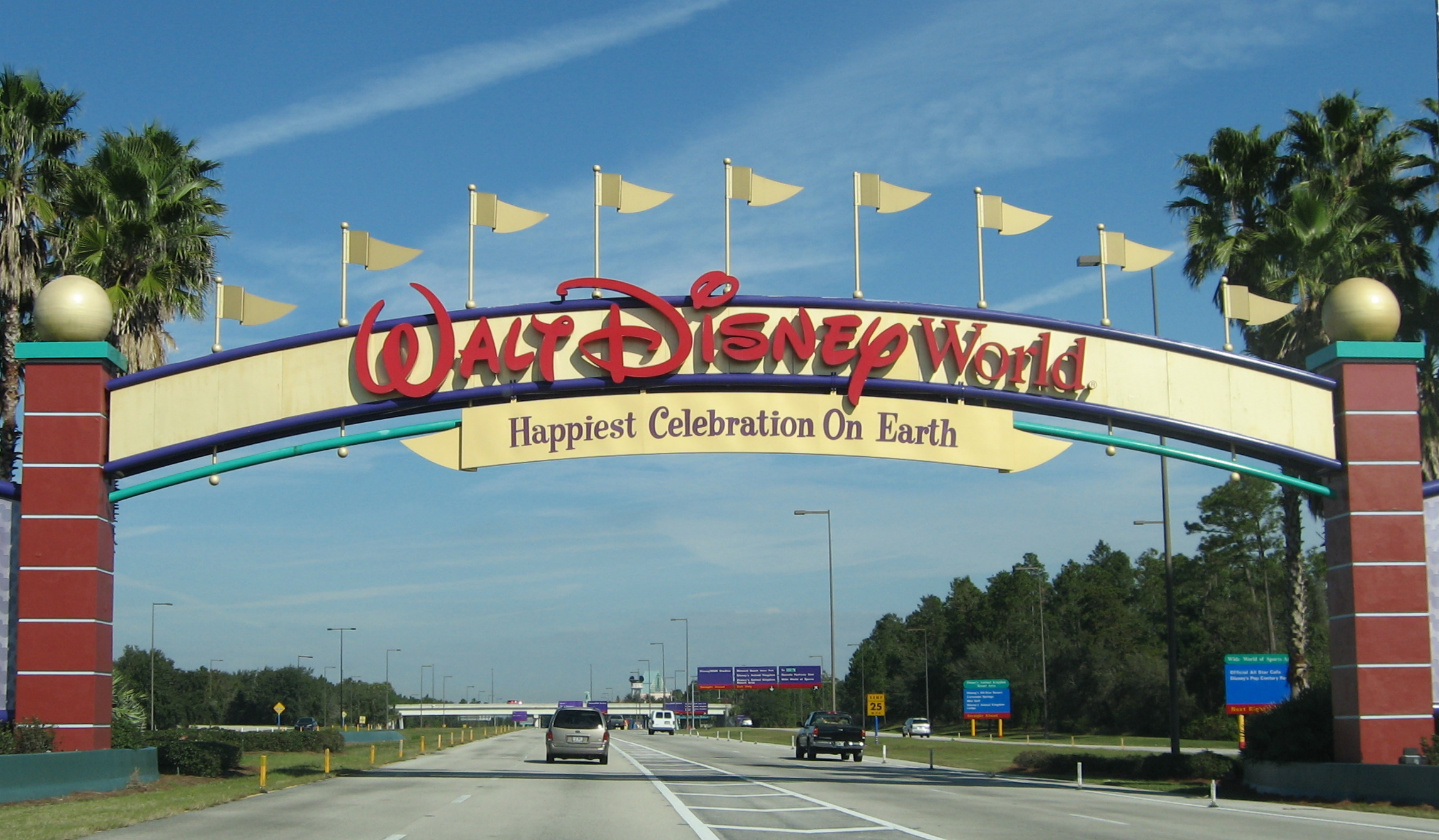 Disney_World_ _Entrance_sign_ _by_inkiboo. Walt Disney World ...