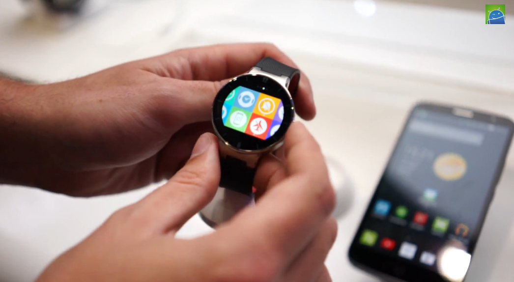 Hands-on with the Alcatel Watch at CES 2015