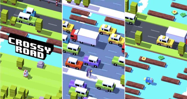 The mega-hit 'Crossy Road' game is now available from Google Play