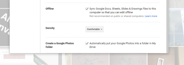 Google Drive Photos folder