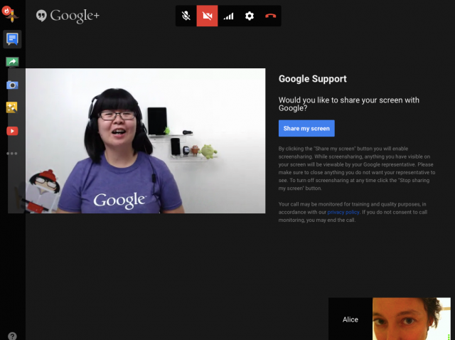 Google Helpouts Live Support Hangouts