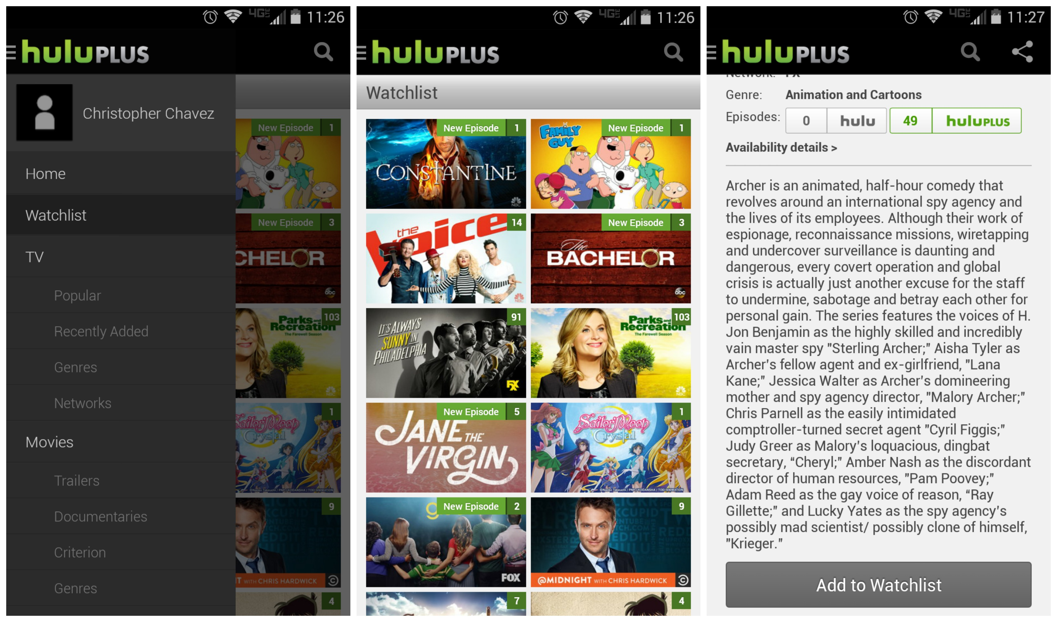 hulu watchlist replaces queue, favorites, & shows you watch