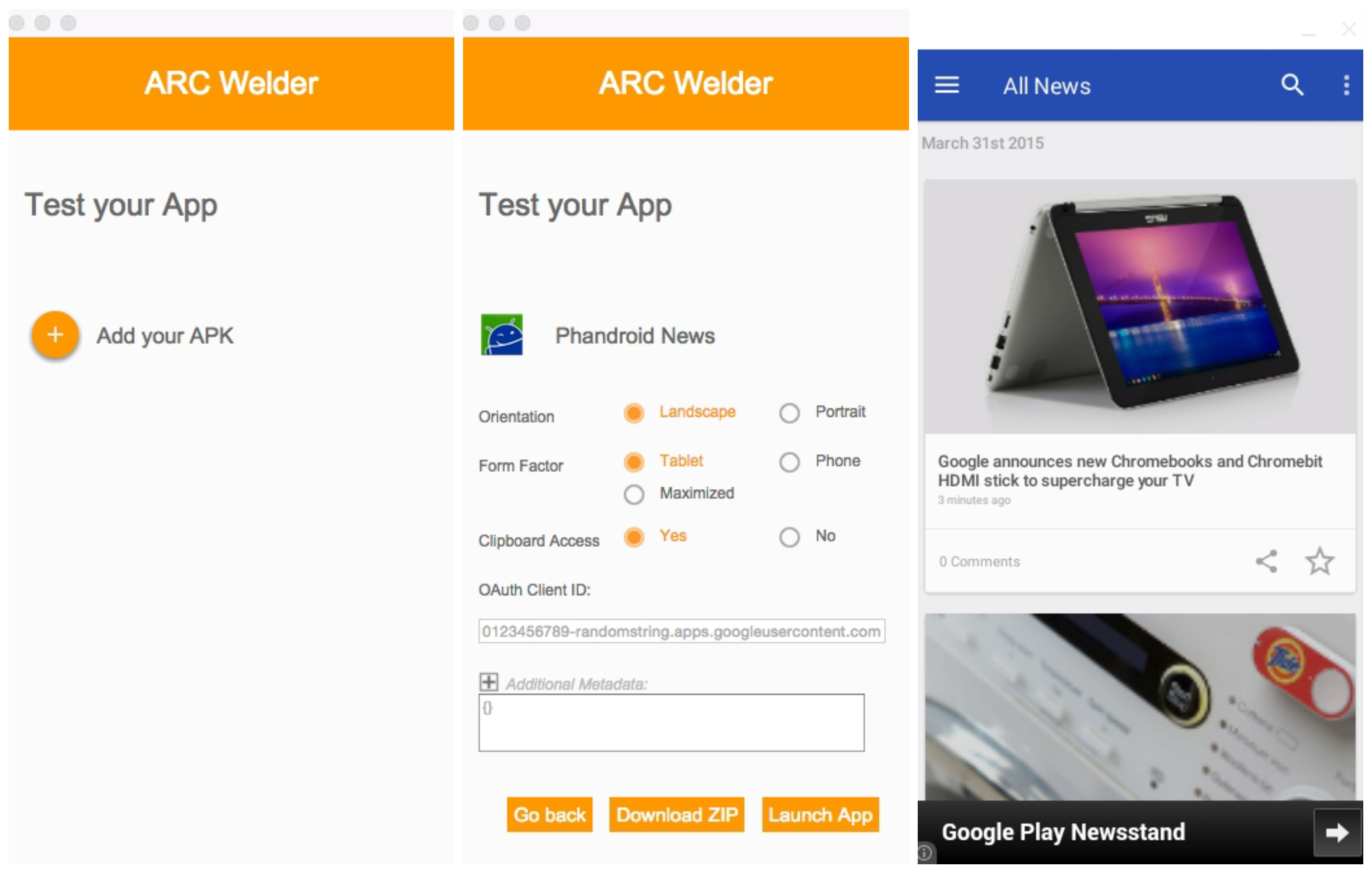 ARC Welder lets you run Android apps in Chrome