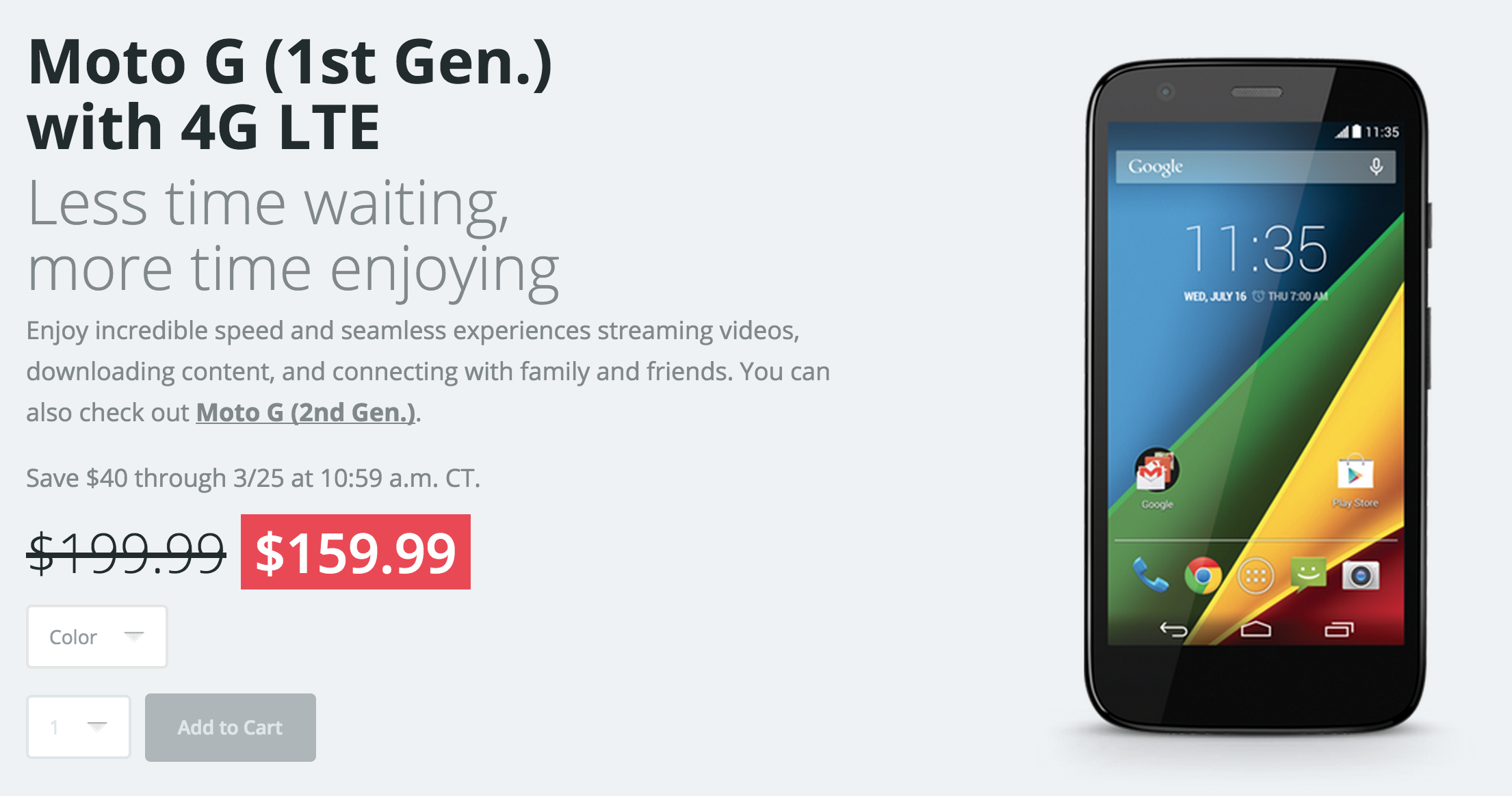Motorola Moto G 4G LTE Sale