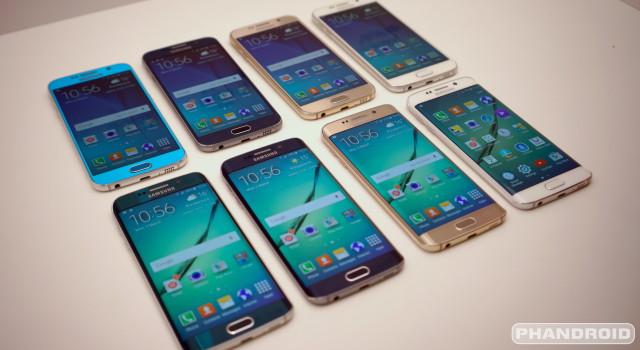 Samsung Galaxy S6 all colors DSC08553