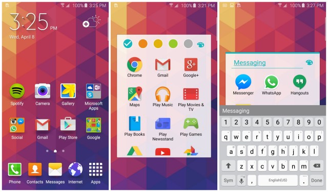 Samsung Galaxy S6 customize home screen folders