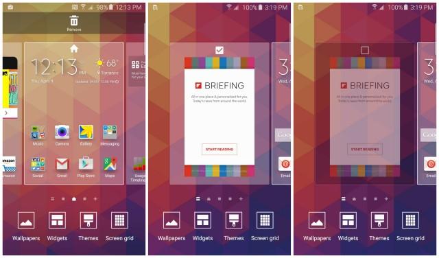 Samsung Galaxy S6 removing Flipboard screen