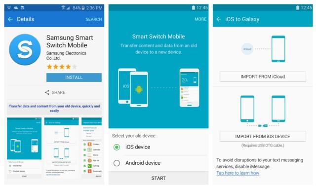 Samsung Galaxy S6 transfer content