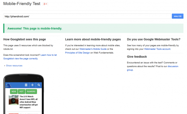 mobile friendly tool