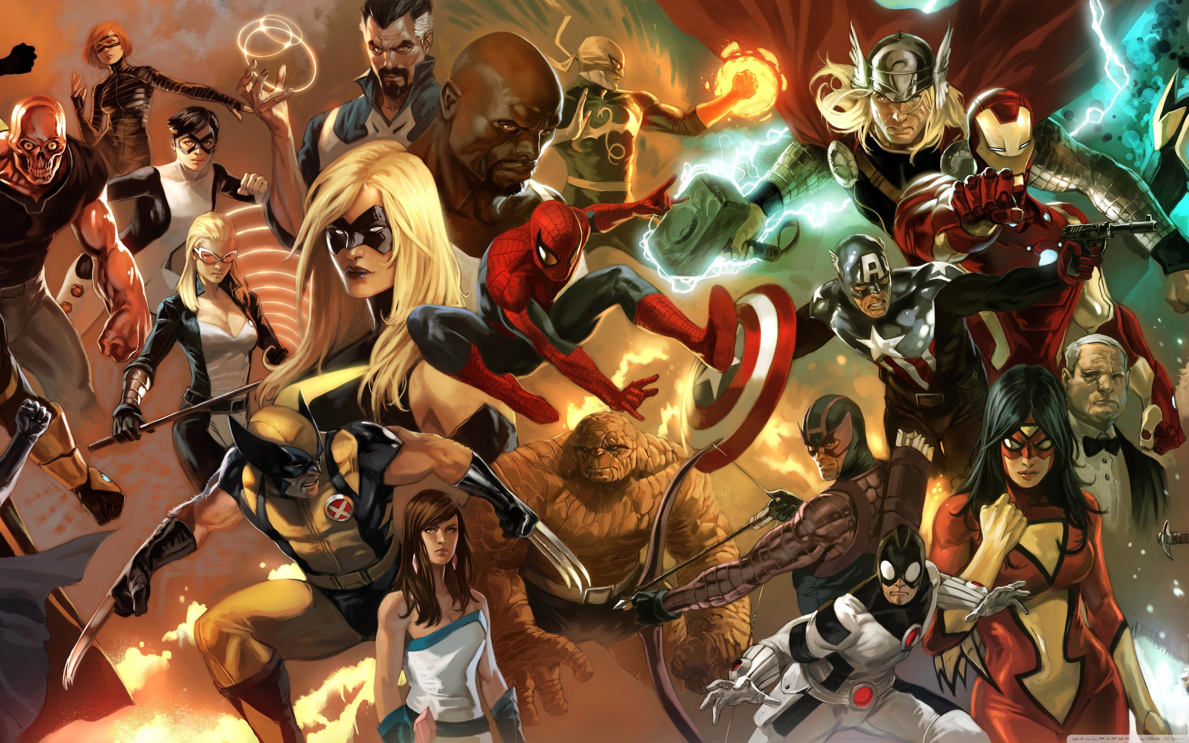 Android Wallpaper Avengers Assemble