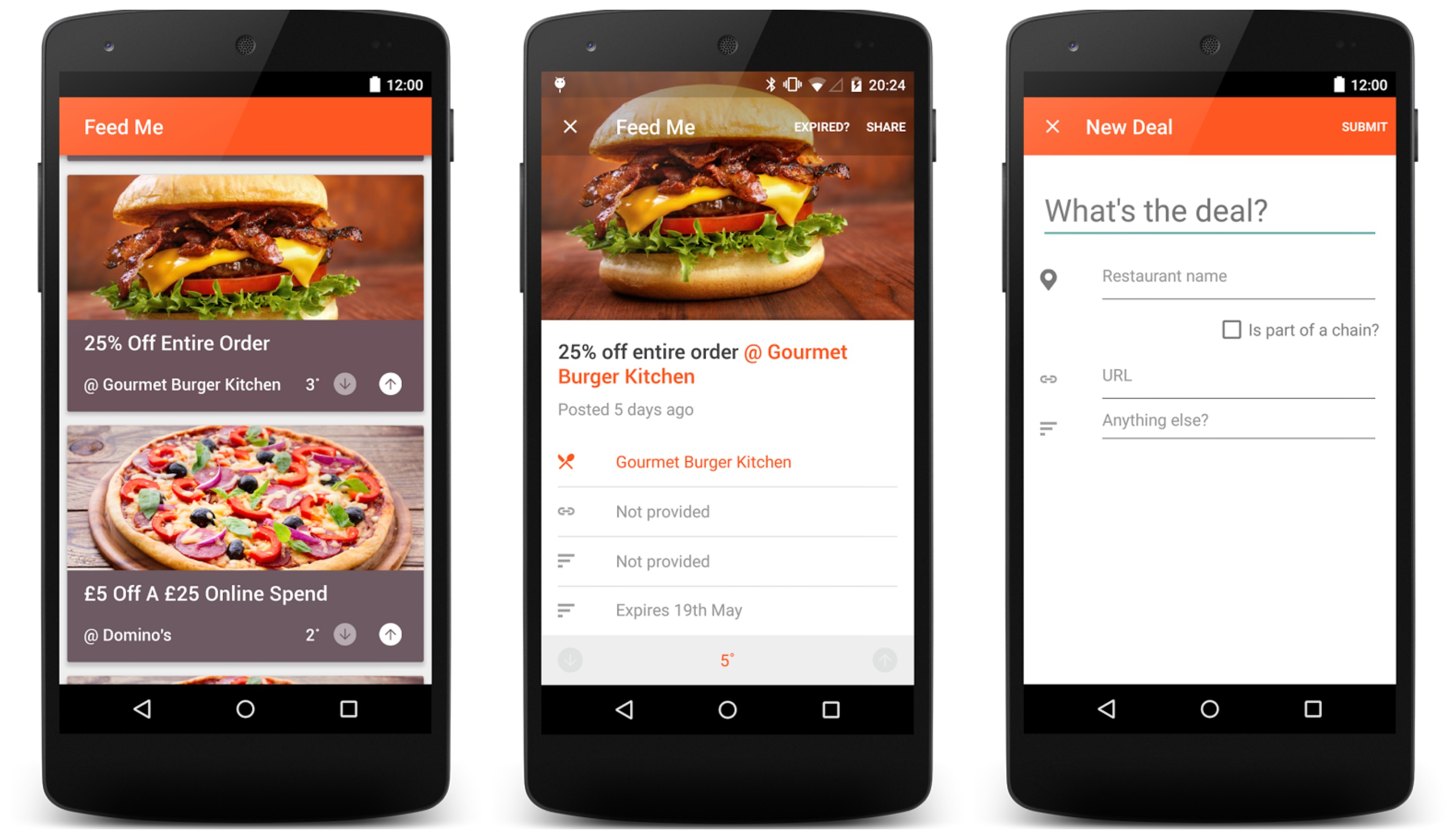 Feedme lets you find the hottest restaurant deals in your - Application android cuisine ...