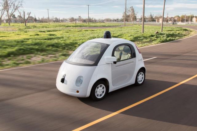 google self driving prototype
