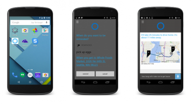 windows 10 cortana for android