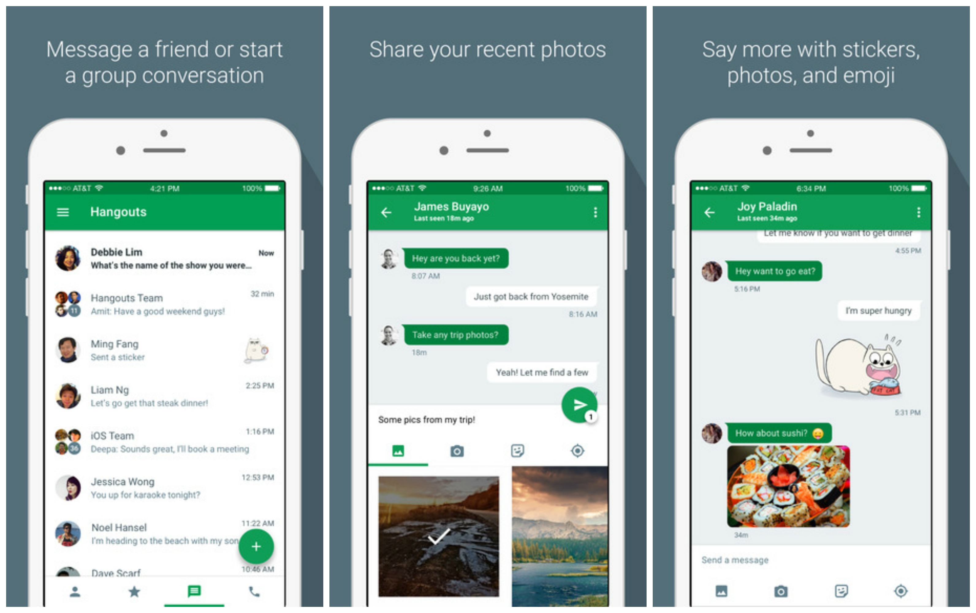 Hangouts 4 0 For Ios Brings New Ui Lets You Send Multiple