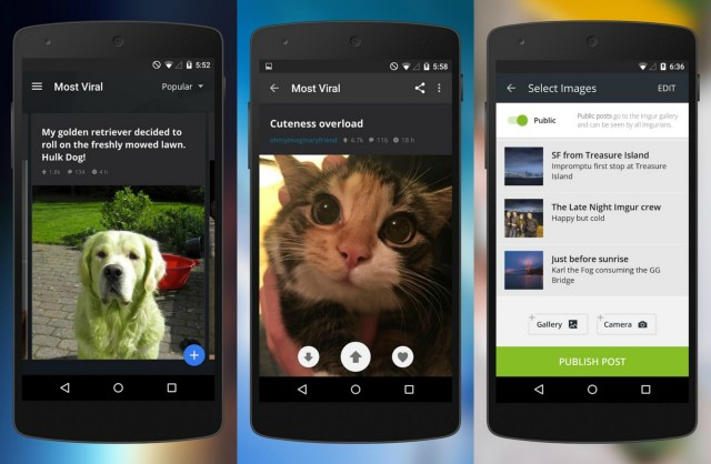Imgur Android native update