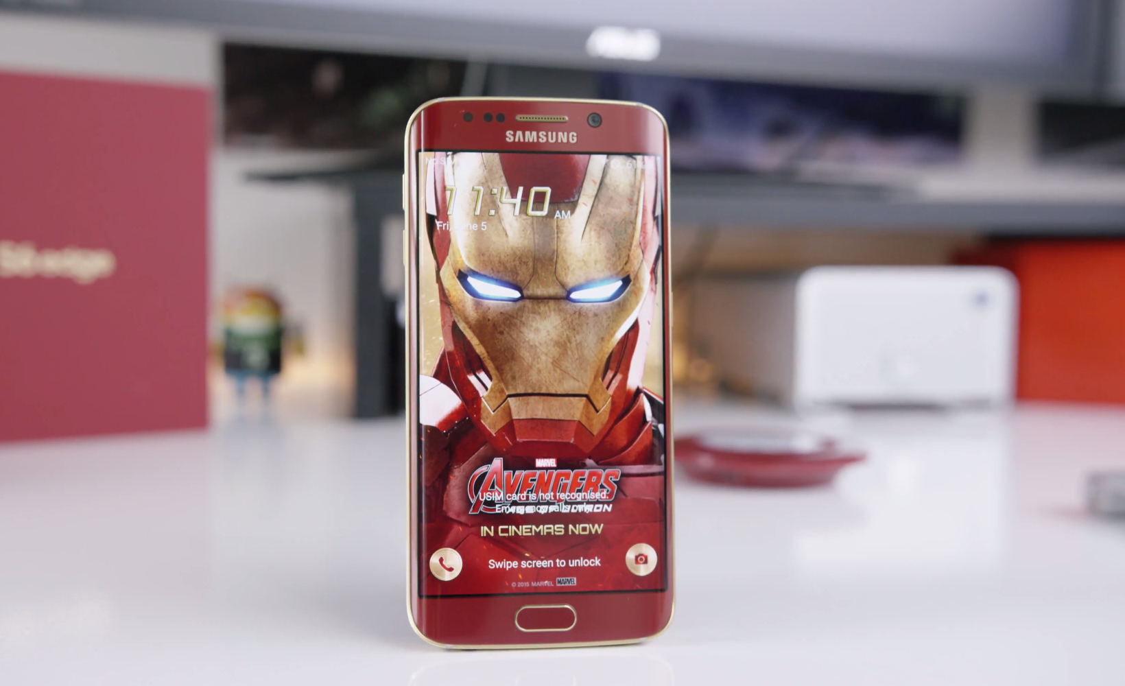 Iron Man Edition Samsung Galaxy S6 Edge Gets The Hands On Treatment Video Techgreatest