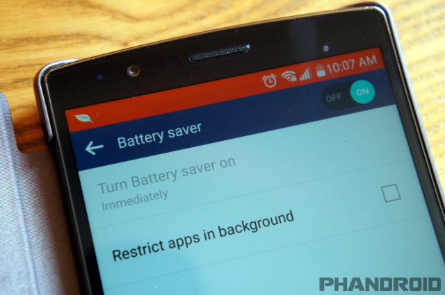 LG G4 battery saver