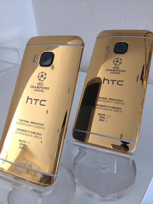 HTC One in 24 Carat Gold