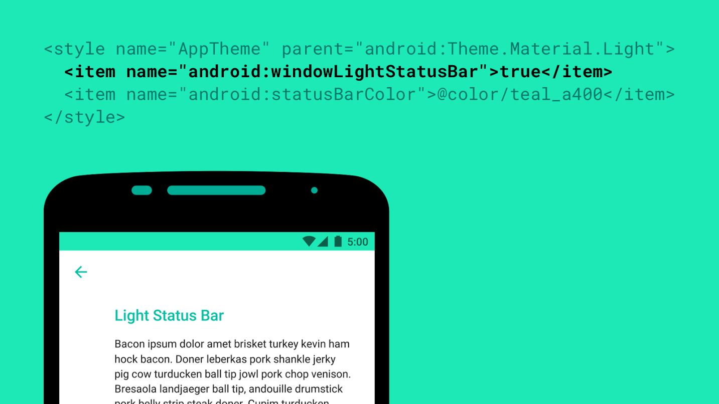 Android M Introduces Black Status Icons For Light Colored Themes