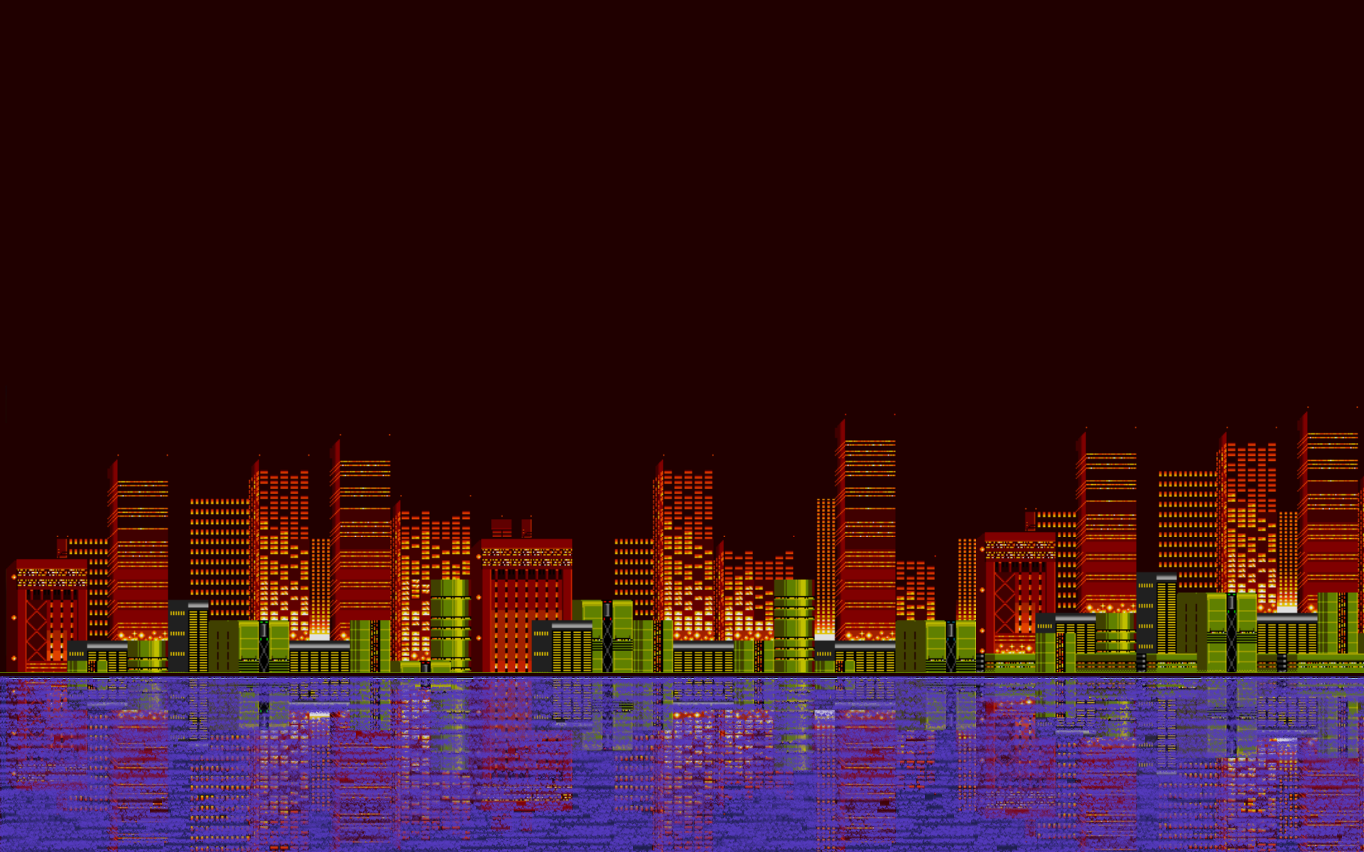 Android Wallpaper: 8-Bit Landscapes
