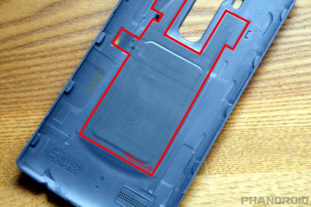 LG G4 remove Qi