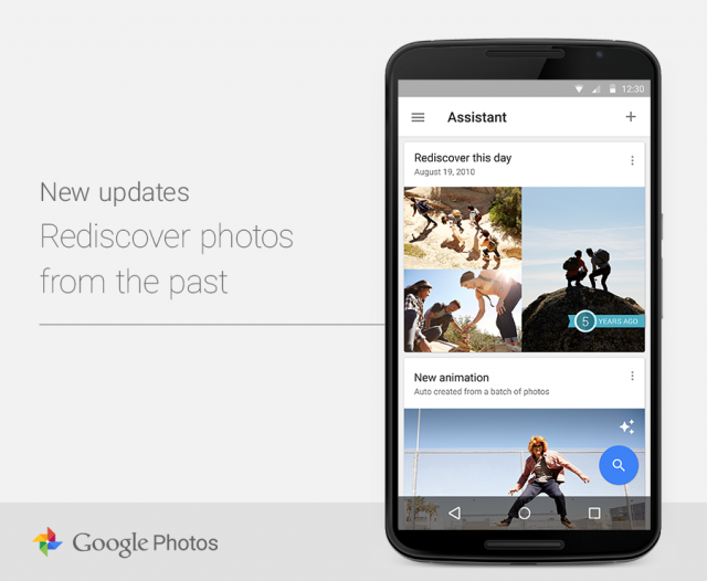 Google Photos Rediscover this day feature