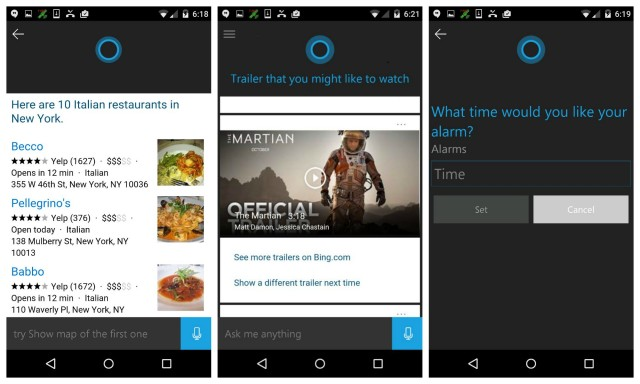 Microsoft Cortana Android beta