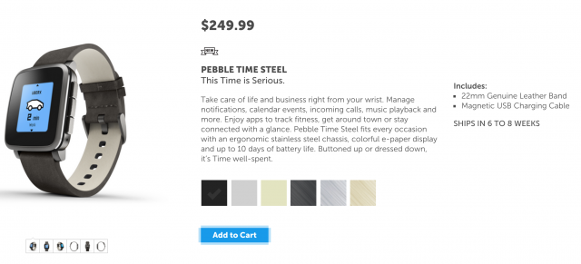 Pebble Time Steel pre-order
