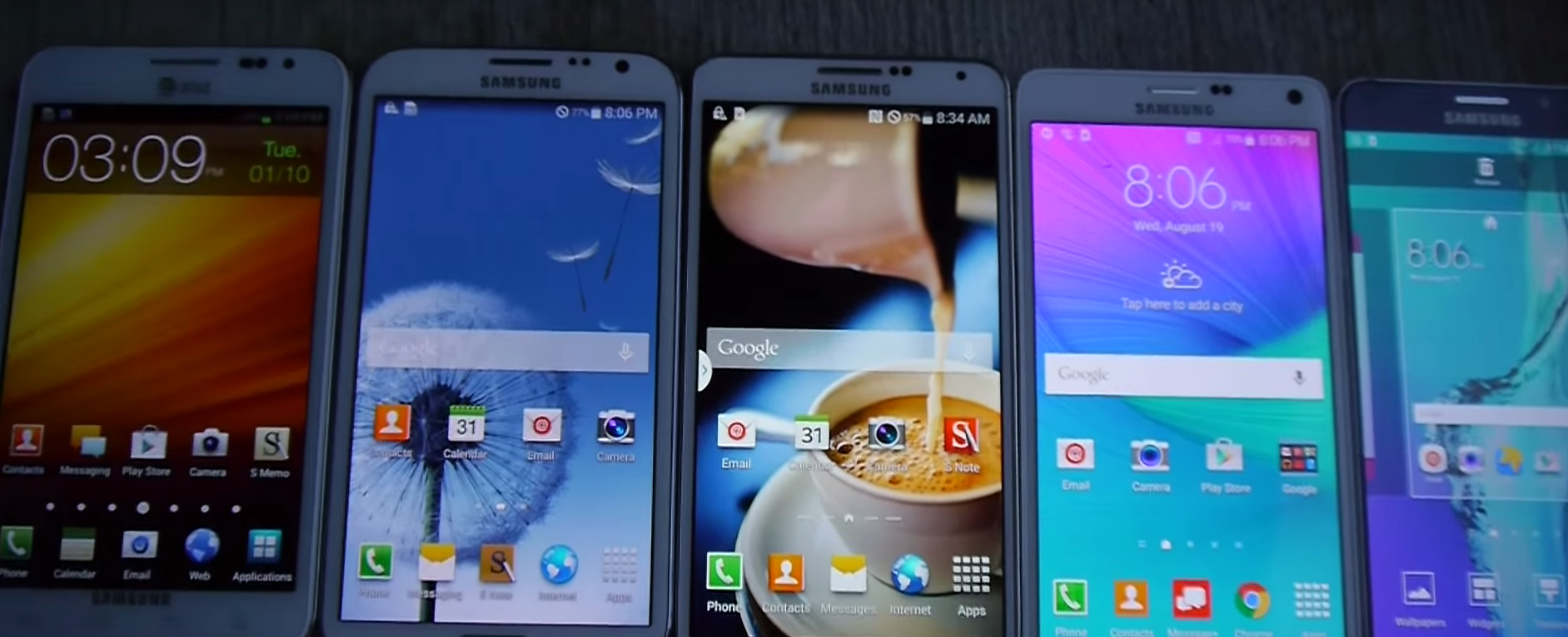 Watch All 5 Samsung Galaxy Note Phones Get Abused In The