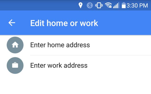 google maps home work