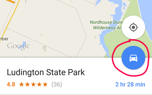 how to create google maps shortcut on android