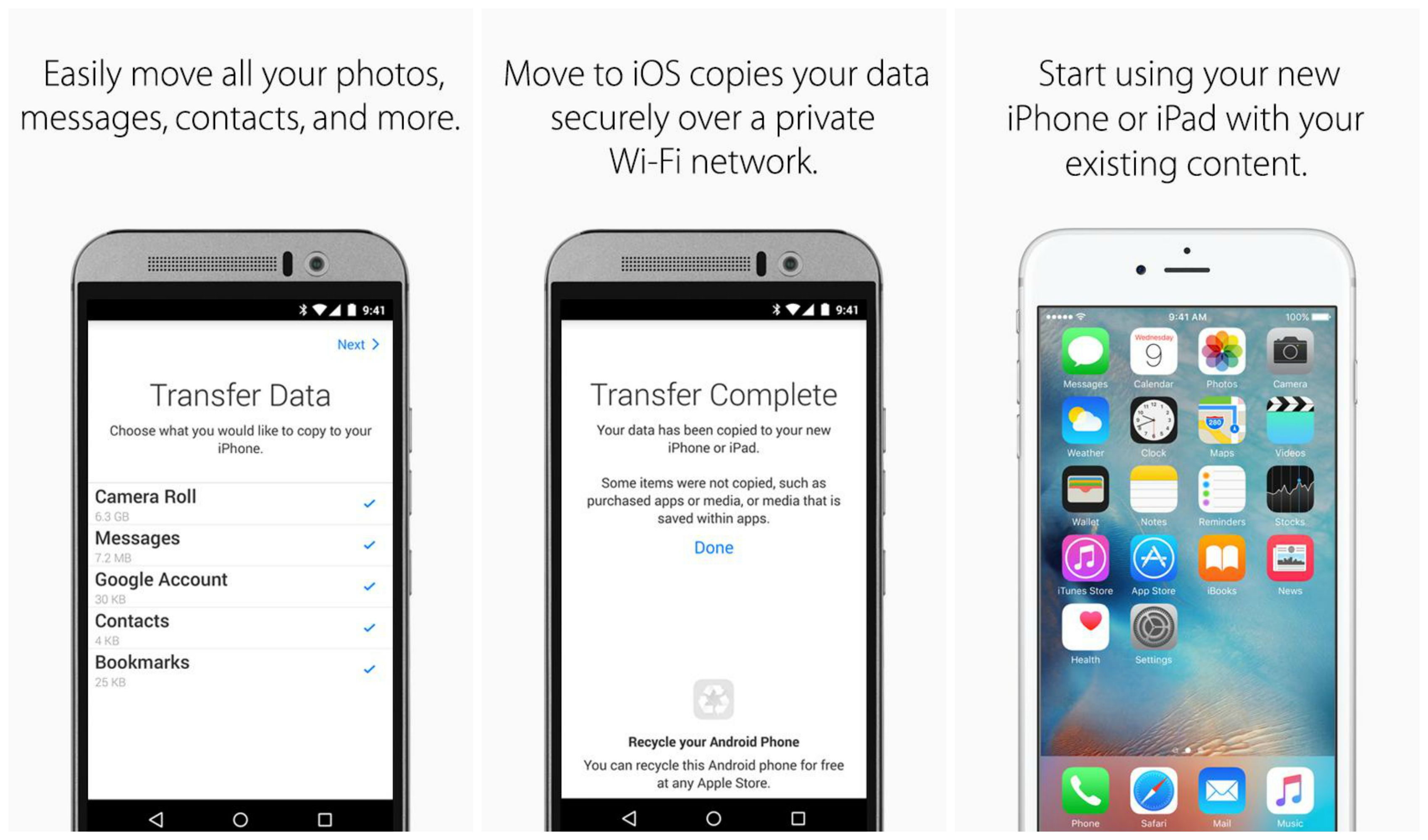 transfer all data to new iphone apple move to ios app now available for android 2107