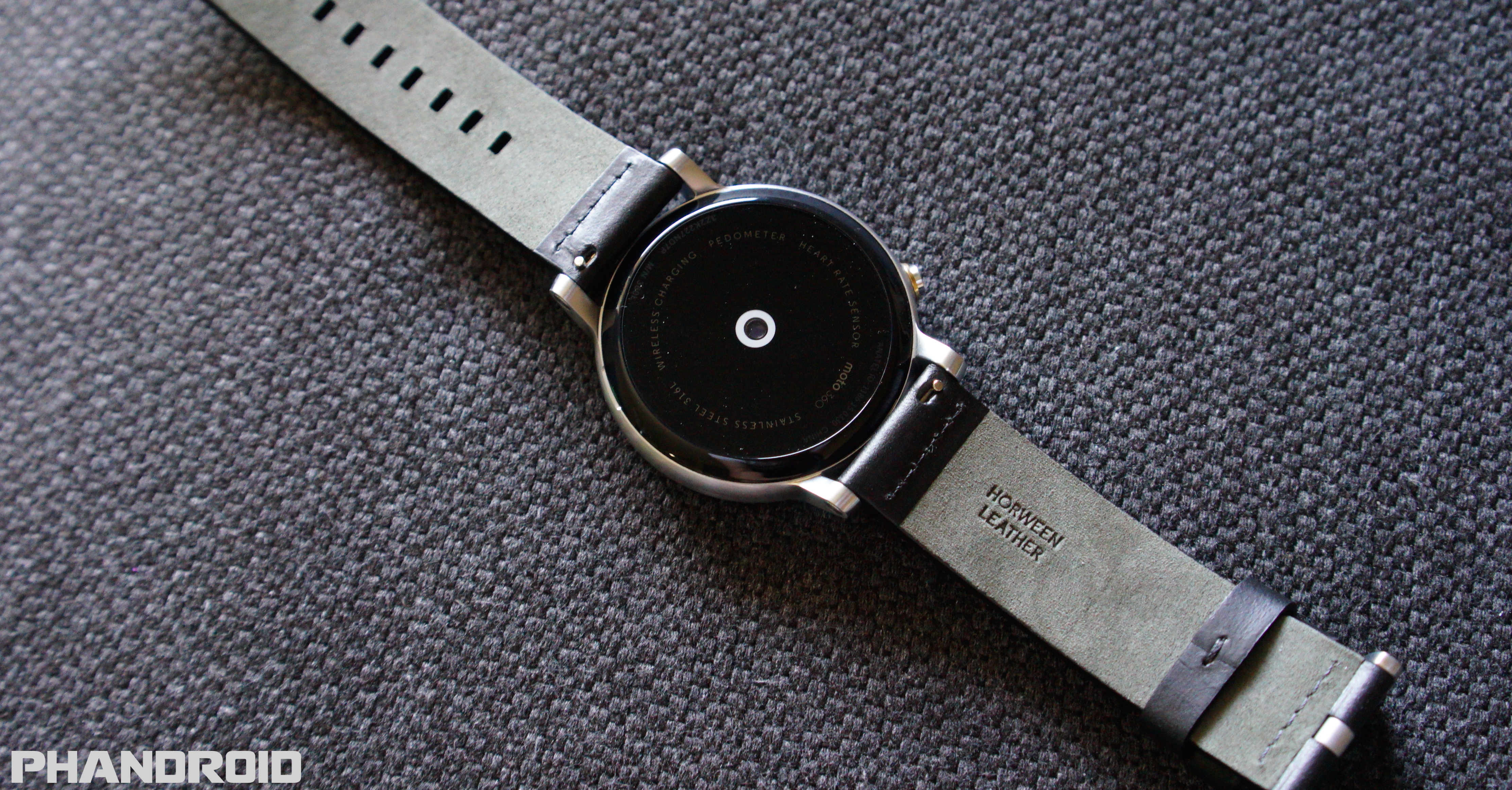 Moto 360 2nd Gen Unboxing And First Look Video Motorola Smart Watch Black Leather 2015 Dsc09992