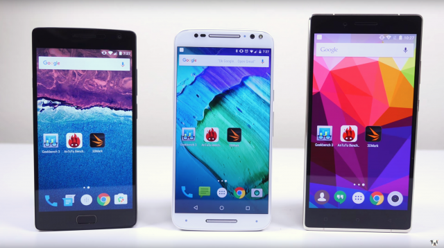 OnePlus 2 vs Moto X Pure Edition vs BLU Pure XL speed test