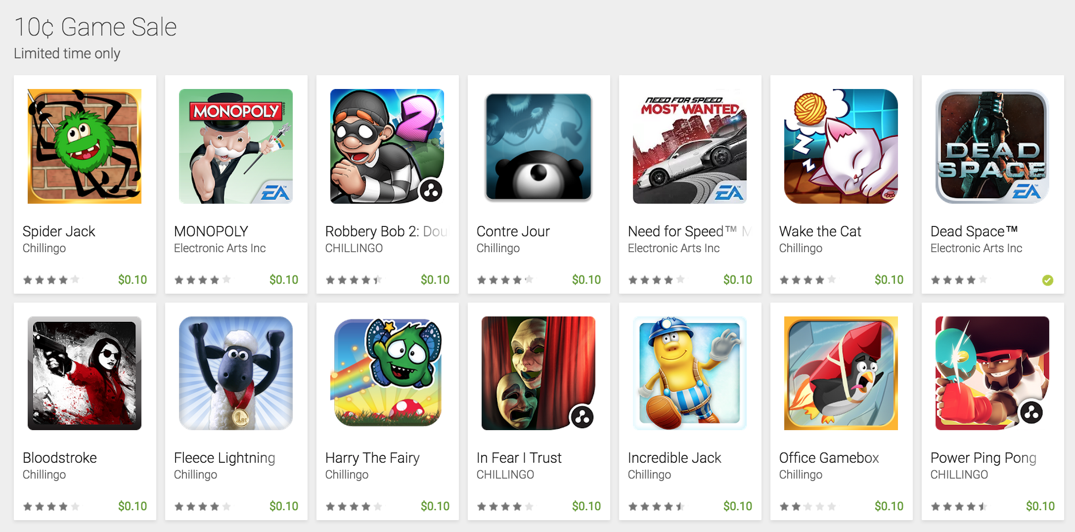 14 Android games marked down to 10 cents on Google Play