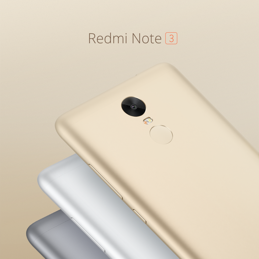 Xiaomi Redmi Note 3 Goes Official 5 5 Inch Hd Display Fingerprint Scanner And More