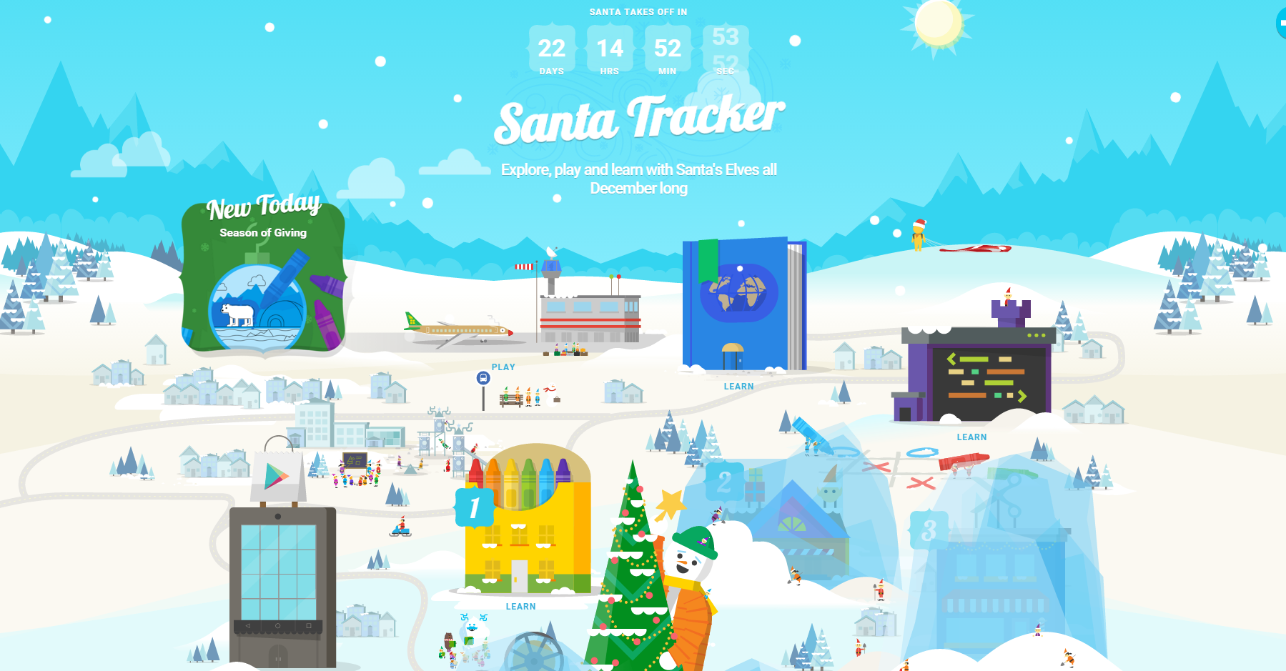 google reboots the santa tracker for christmas 2015 with fun games