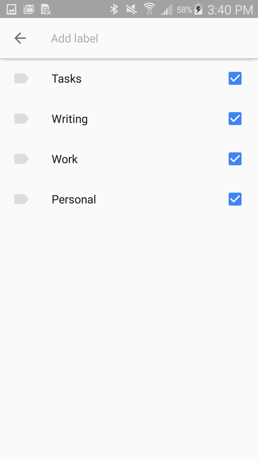how to organise google keep