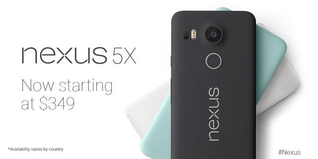 Nexus 5X new price 350