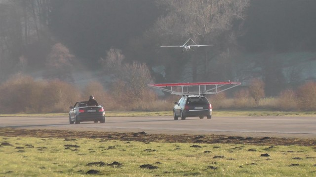 drone car landing