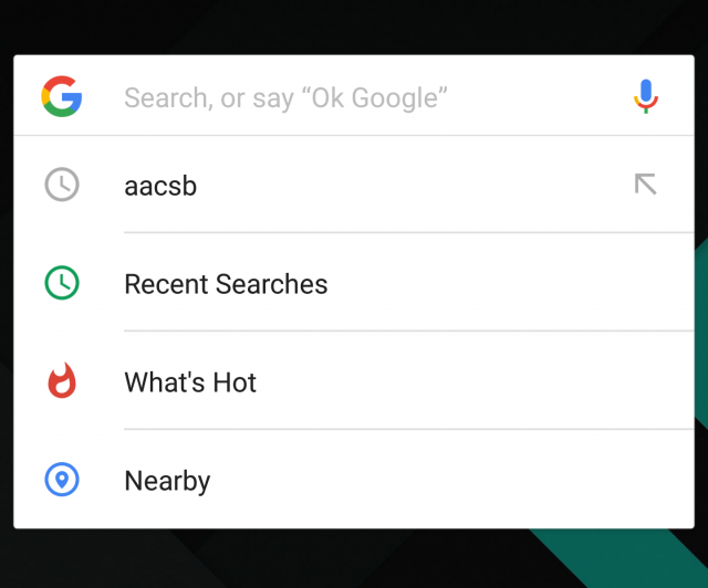 google now searches 1