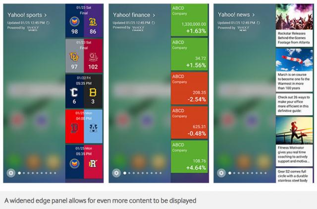 Samsung Android 6.0 Marshmallow Galaxy Edge screen update - Edge Panel