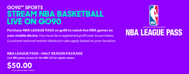 go90 NBA League Pass