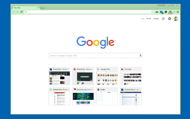 """Current """"New Tab Page"""""""
