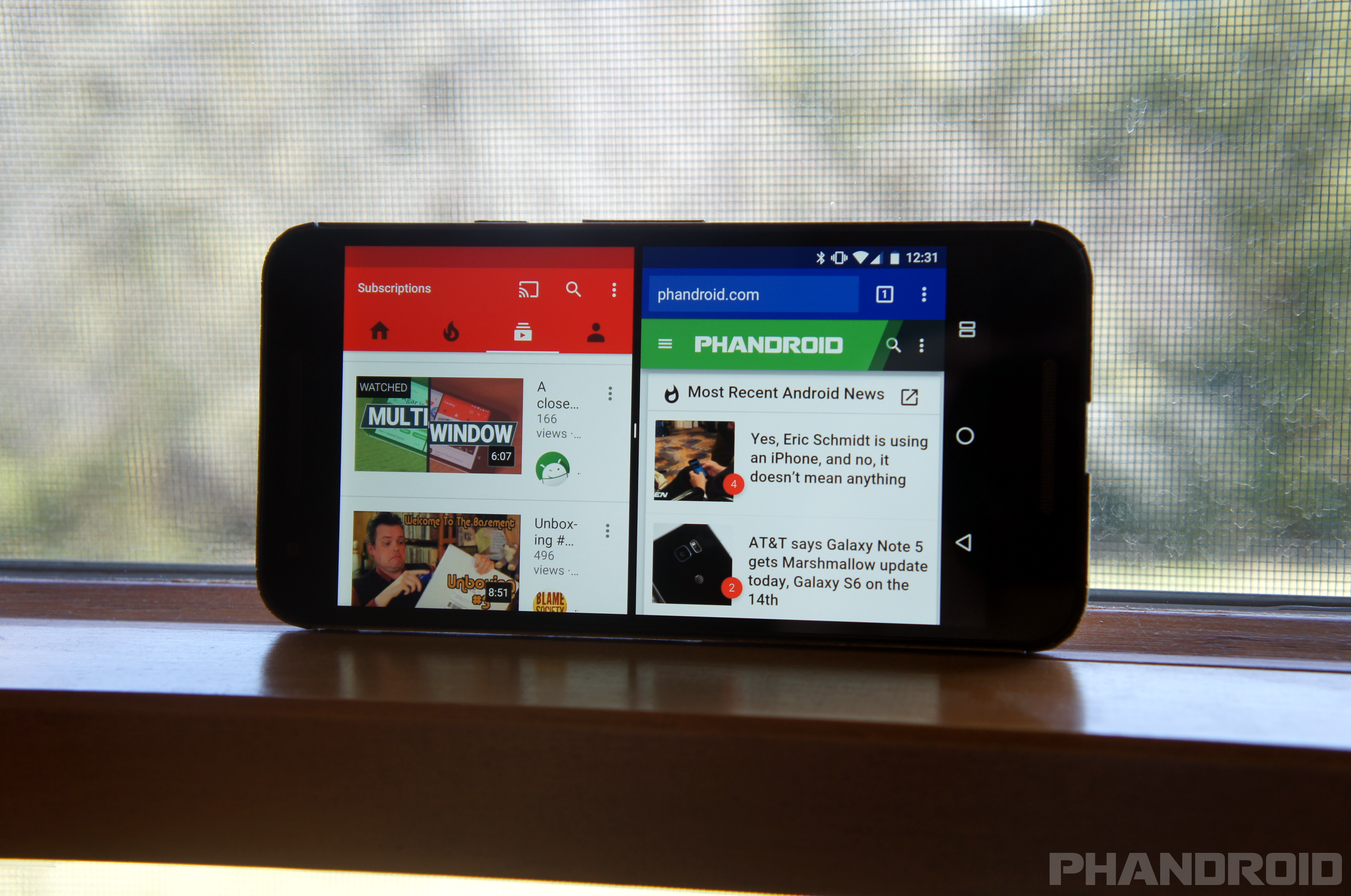 how to use multi window android n